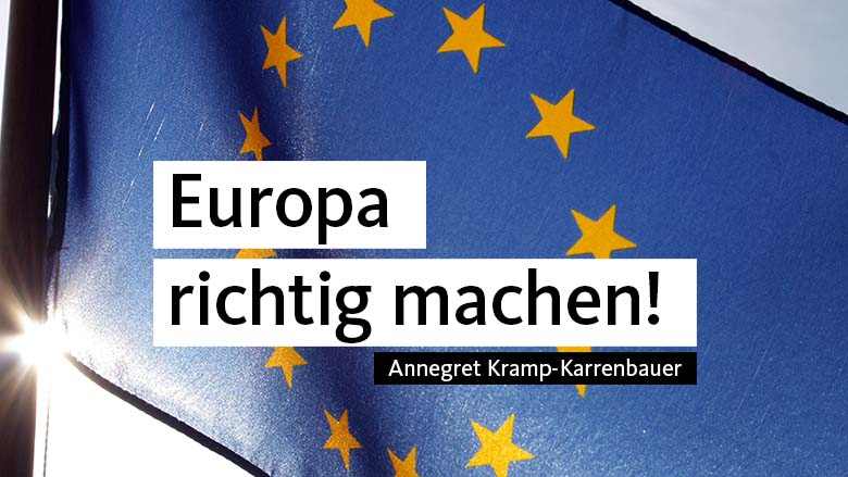 Europa richtig machen