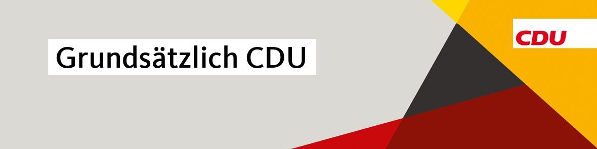 Grundsätzlich CDU