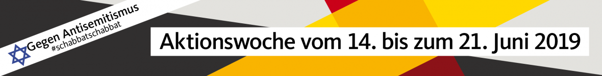 """Banner: Aktionswoche """"Von Schabbat zu Schabbat"""""""