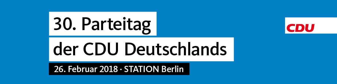 Anmeldung 30. Parteitag der CDU Deutschlands