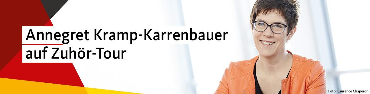 Annegret Kramp-Karrenbauer auf Zuhör-Tour