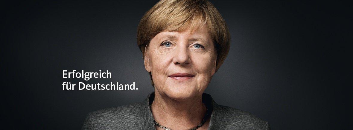 Angela Merkel. Erfolgreich für Deutschland.