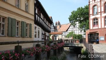 Das Bild zeigt historisches Quedlinburg.