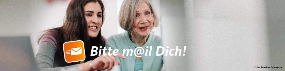 Bitte m@il Dich