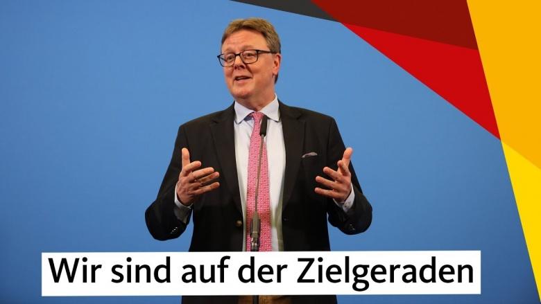 """Grosse-Brömer: """"Wir sind auf der Zielgeraden"""""""