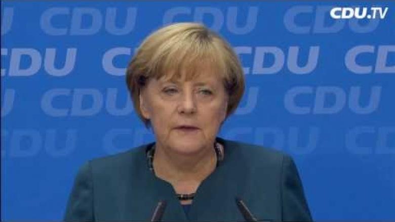 """Angela Merkel: """"Großes Vertrauen der Wähler in die Union"""""""