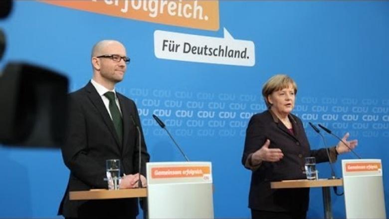 Angela Merkel stellt zukünftige Regierungsmitglieder vor