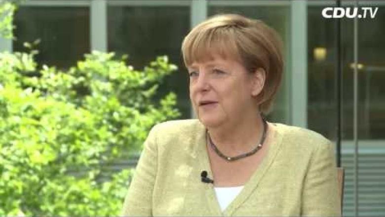 Angela Merkel im Sommerinterview mit CDU.TV