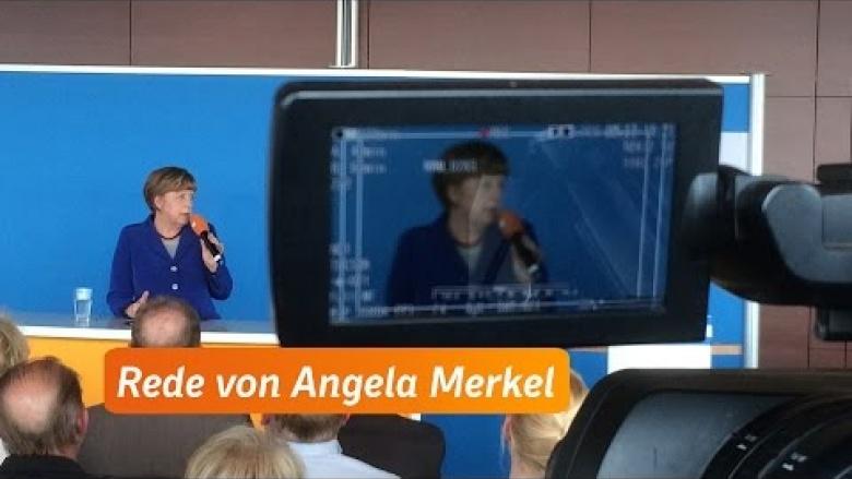 """Merkel: """"Man braucht ein Stück Mut"""""""