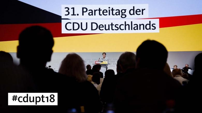 32. Parteitag der CDU Deutschlands - der Countdown läuft