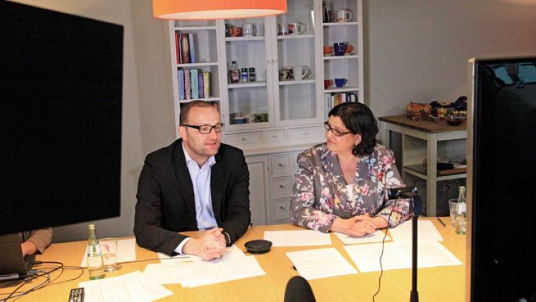 Im vergangenen Jahr sprach Jens Spahn in einer Videokonferenz mit CDU-Mitgliedern über das Thema Pflege.