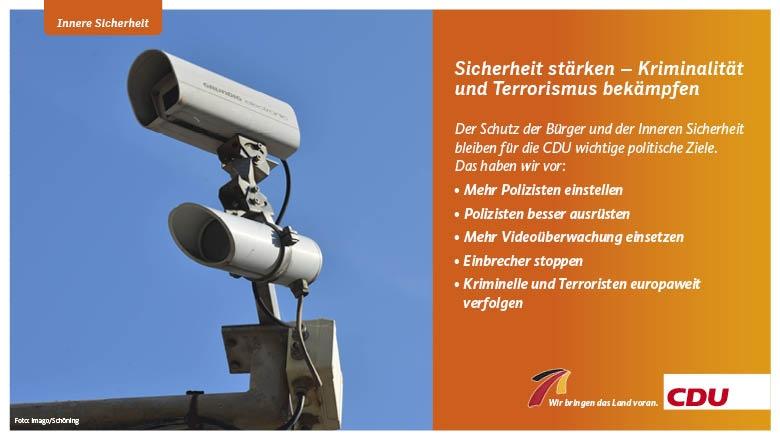 Sicherheit stärken – Kriminalität und Terrorismus bekämpfen