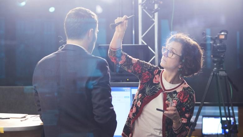 Anja Pfeffermann und Boris Binkowska im CDU.TV-Studio
