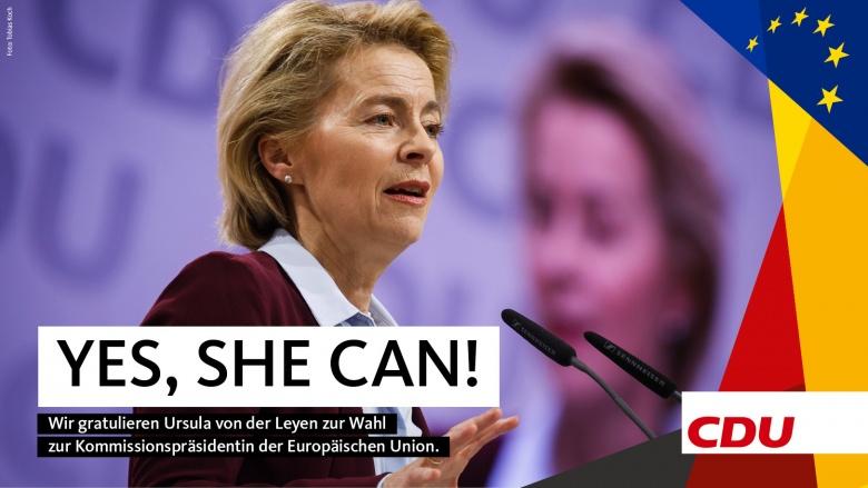 CDU gratuliert Ursula von der Leyen