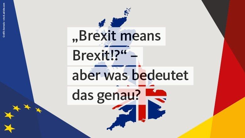 Brexit means Brexit? - aber was bedeutet das genau?