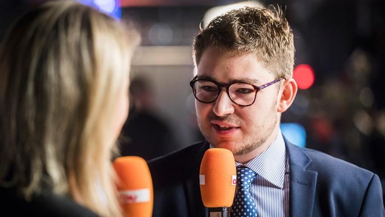 Frederik Gohmann, jüngster Delegierter des Parteitages