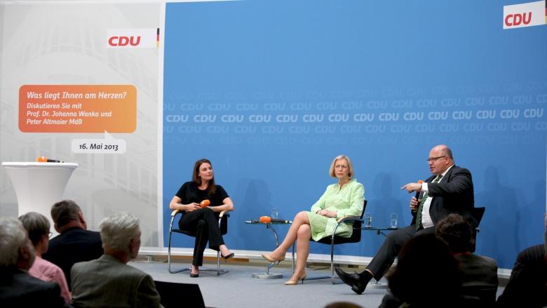 Foto: Claudia Kade, Forschungsministerin Johanna Wanka und Umweltminister Peter Altmaier