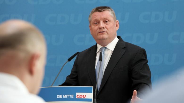 CDU-Generalsekretär Hermann Gröhe bei der Pressekonferenz nach den Führungsgremien
