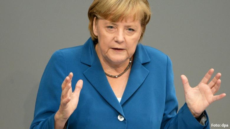 Bundeskanzlerin Angela Merkel bei der letzten Rede der Legislaturperiode im Deutschen Bundestag