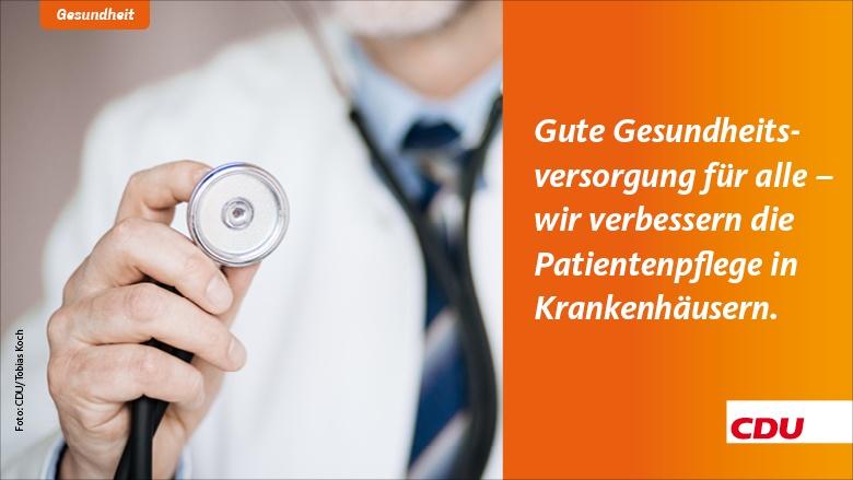 Gute Gesundheitsversorgung für alle – Wir verbessern die Patientenpflege in Krankenhäusern