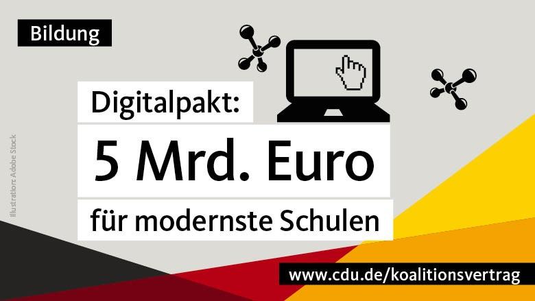 Digitalpakt: 5 Mrd. Euro für modernste Schulen