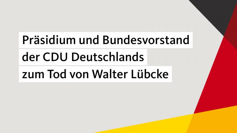 Prasidium Und Bundesvorstand Der Cdu Deutschlands Zum Tod