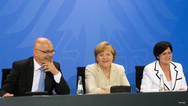 Pressekonferenz von Angela Merkel nach der Ministerpräsidentenkonferenz