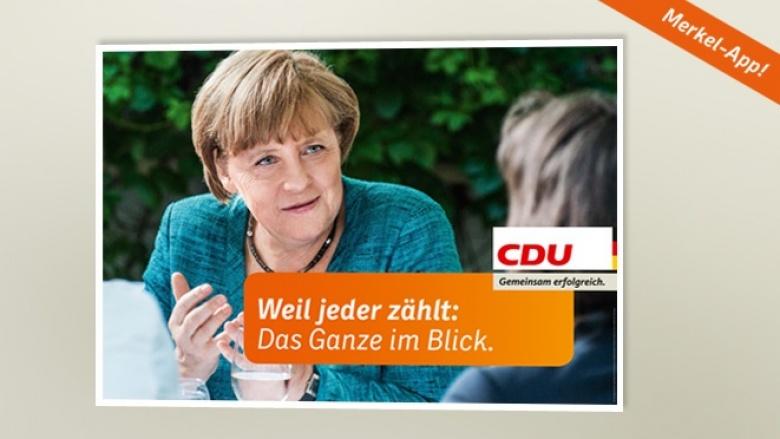 Plakat zur Bundestagswahl 2013: Weil jeder Blick zählt