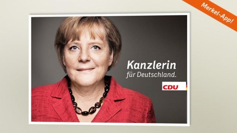 Plakat zur Bundestagswahl 2013: Kanzlerin für Deutschland