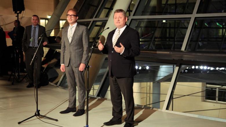 CDU-Generalsekretär Hermann Gröhe beim Statement zum Sondierungsgespräch mit Bündnis 90 / Die Grünen