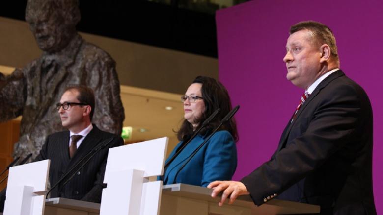 Hermann Gröhe, Andrea Nahles und Alexander Dobrindt