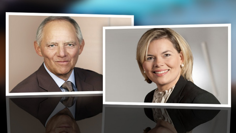 Foto von Julia Klöckner und Wolfgang Schäuble
