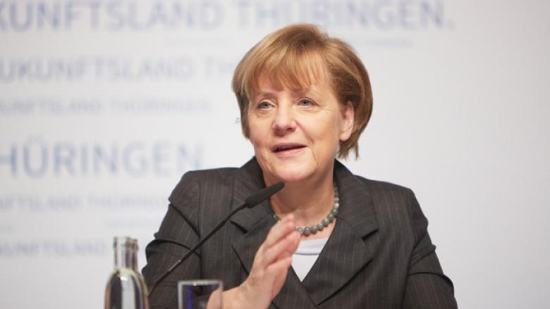 Angela Merkel bei IHK und HWK in Weimar (Foto: Laurence Chaperon)