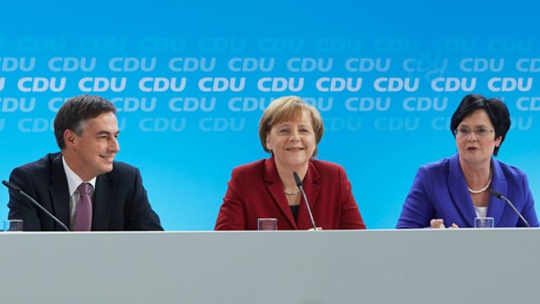 Angela Merkel, Christine Lieberknecht und David McAllister (Foto: Laurence Chaperon)