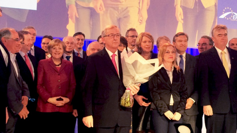 Jean-Claude Juncker beim EVP-Kongress in Dublin (Foto: Juri Schnoeller)