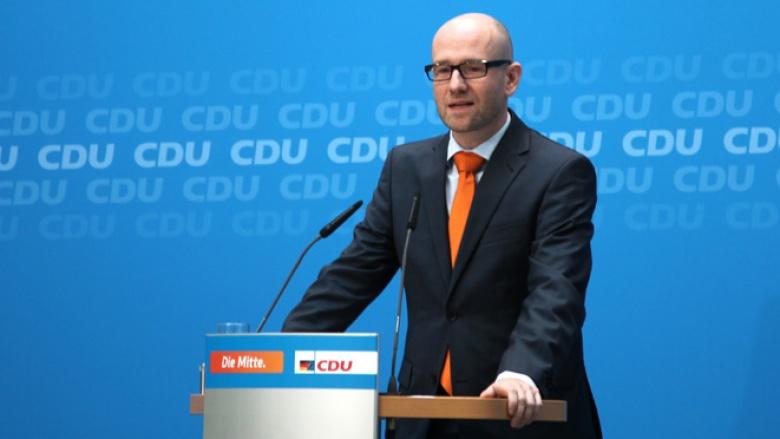 CDU-Generalsekretär Peter Tauber bei der Pressekonferenz am 29. September 2014