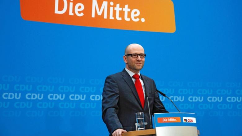 Pressekonferenz mit CDU-Generalsekretär Peter Tauber am 10. November 2014