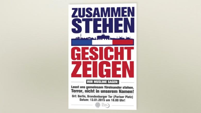 """""""Zusammenstehen - Gesicht zeigen"""" Mahnwache am Brandenburger Tor"""