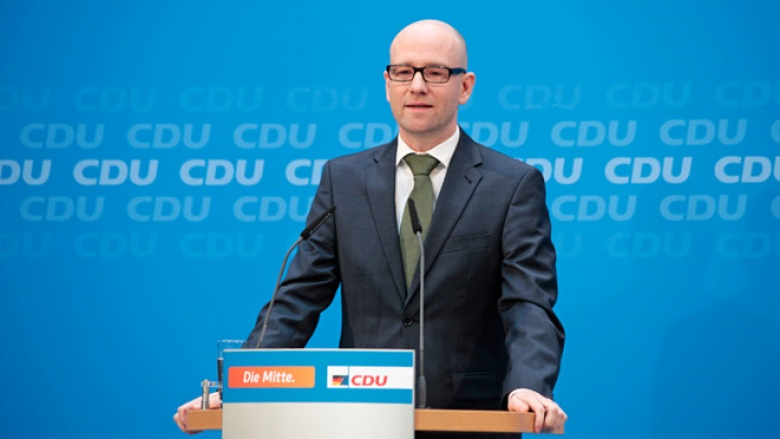 CDU-Generalsekretär Peter Tauber bei der Pressekonferenz im Konrad-Adenauer-Haus