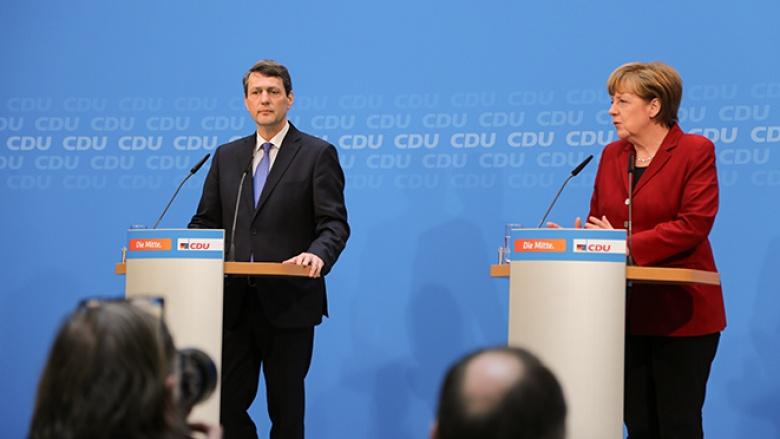 Angela Merkel mit Dietrich Wersich