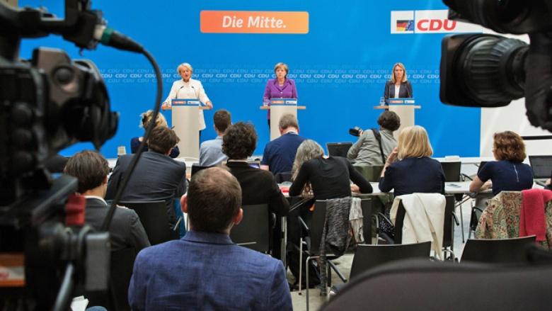 Angela Merkel und Elisabeth Motschmann im Konrad-Adenauer-Haus