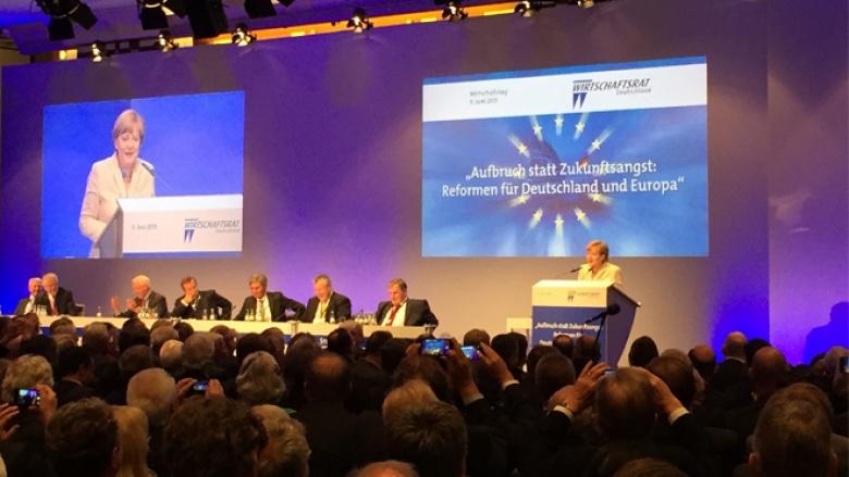 Angela Merkel beim Wirtschaftstag