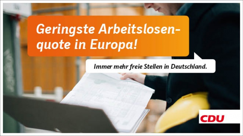 Geringste Arbeitslosenquote in Europa!
