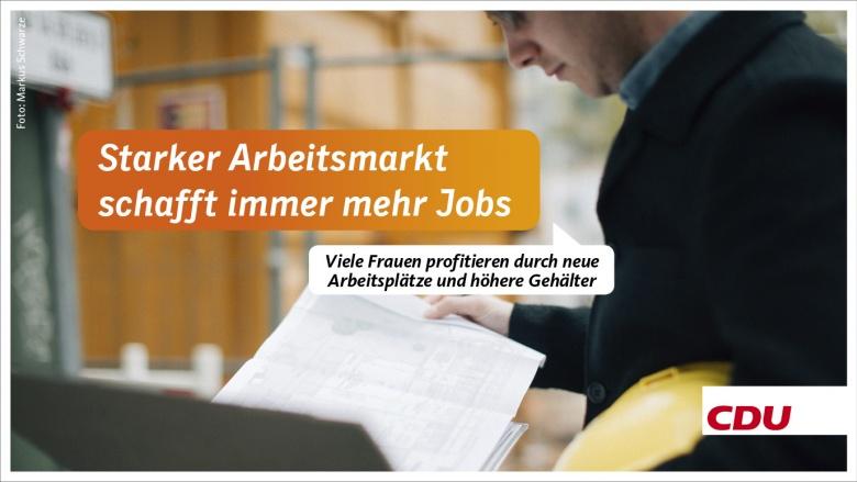 Starker Arbeitsmarkt schafft immer mehr Jobs - Viele Frauen profitieren durch neue Arbeitsplätze und höhere Gehälter