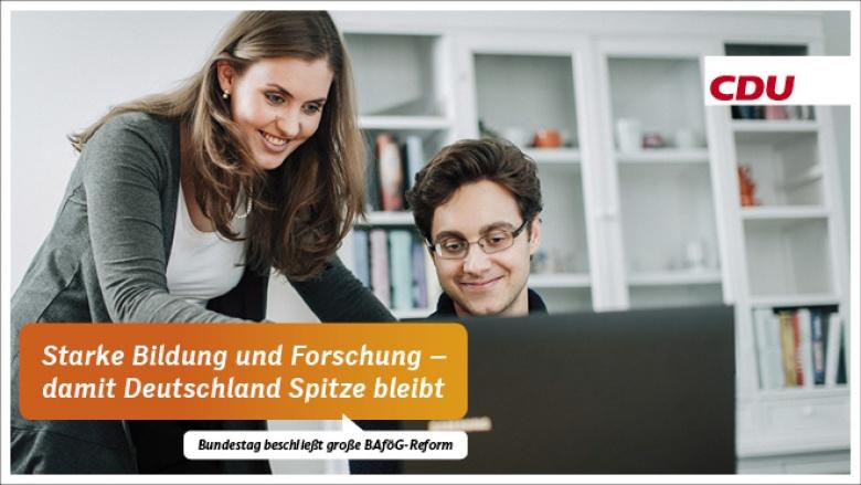 Starke Bildung und Forschung – damit Deutschland Spitze bleibt