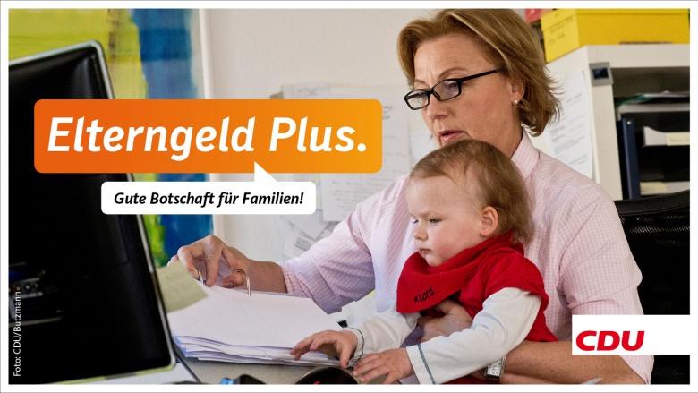 Elterngeld Plus: Gute Botschaft für Familien
