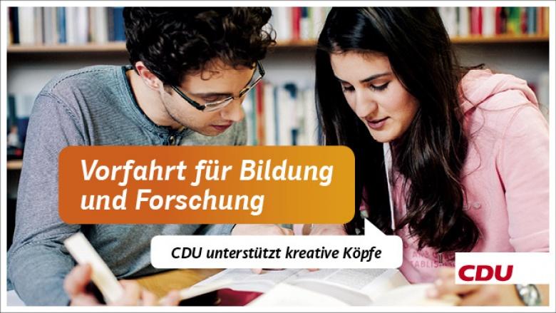 CDU sichert Bildung & Forschung