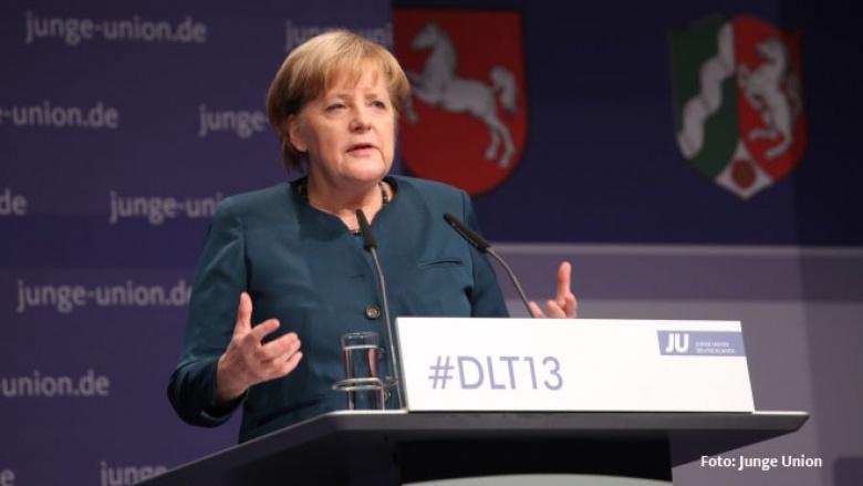 Die CDU-Vorsitzende Angela Merkel beim Deutschlandtag der Jungen Union