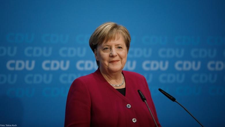 Die CDU-Vorsitzende, Bundeskanzerin Angela Merkel, bei der Pressekonferenz im Berliner Konrad-Adenauer-Haus am 29. Oktober 2018,