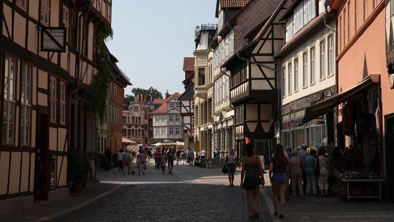 Das Bild zeigt das historische Quedlinburg.